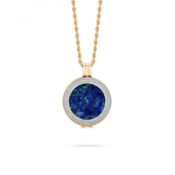 Bijou • Rose Gold Plated Sky Opal Locket