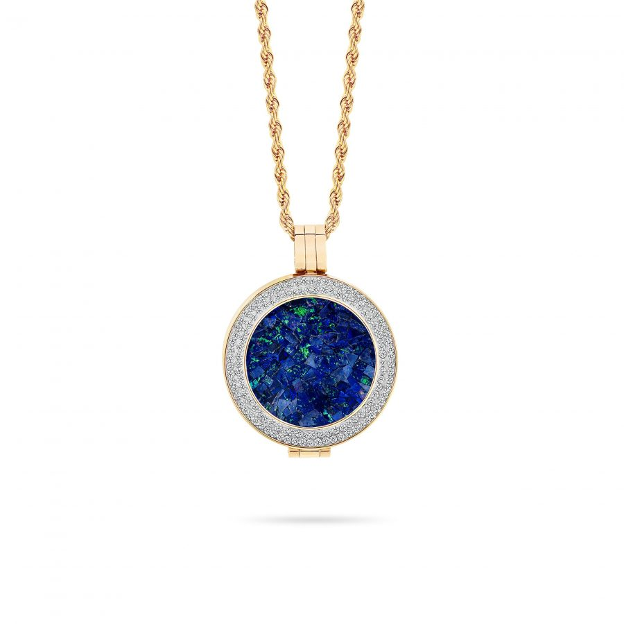 Bijou • Rose Gold Plated Sky Opal Locket