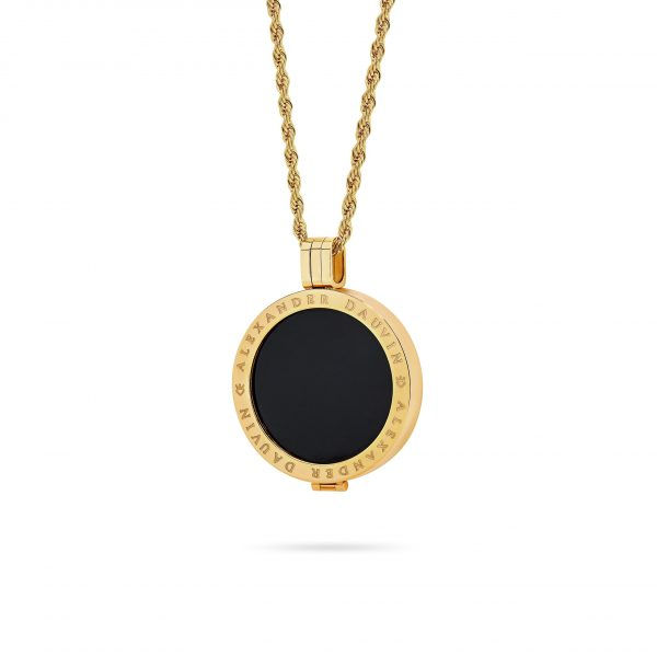 Bijou • Yellow Gold Plated Opal Locket