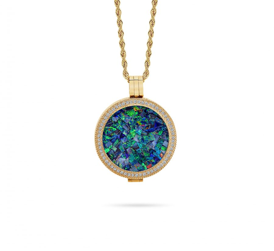 Classic • Rose Gold Plated Ocean Opal Locket