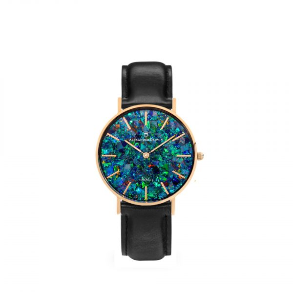 Classic Pedy Green Opal Watch - Rose Gold 32mm
