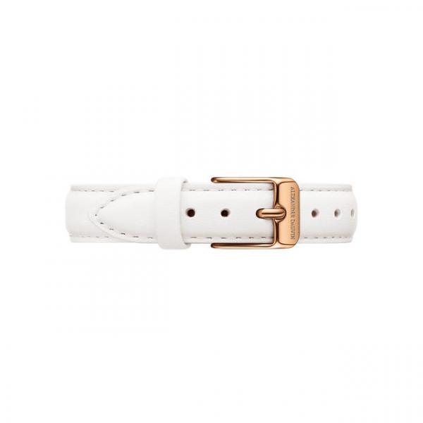Rose Gold clasp White leather strap 28mm/32mm