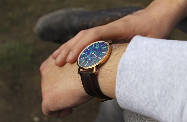 Royal Pedy Blue Opal Watch - 40mm
