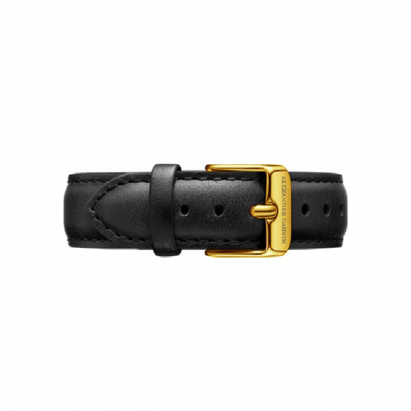 Yellow Gold clasp Black leather strap 36mm/40mm