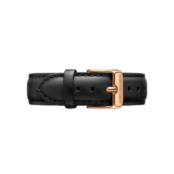 Rose Gold clasp Black leather strap 36mm/40mm