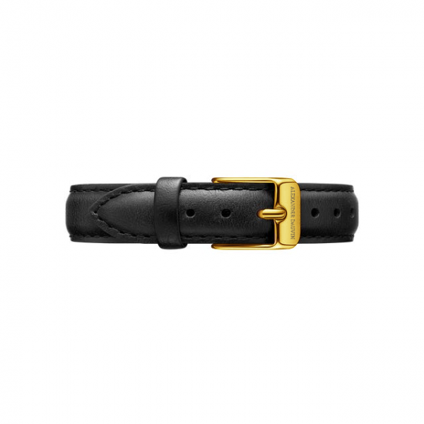 Yellow Gold clasp Black leather strap 28mm/32mm