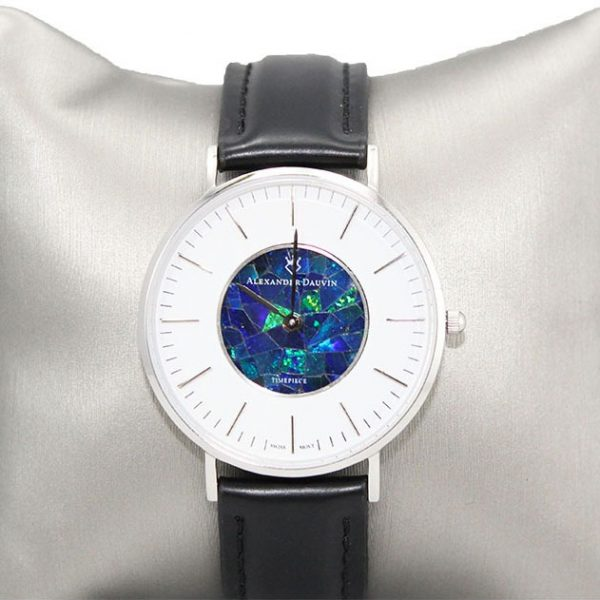 """In White"" Opal Watch - 40mm"