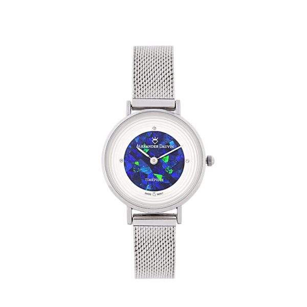 Petite Treasure Cliff Blue Opal Watch - 28mm