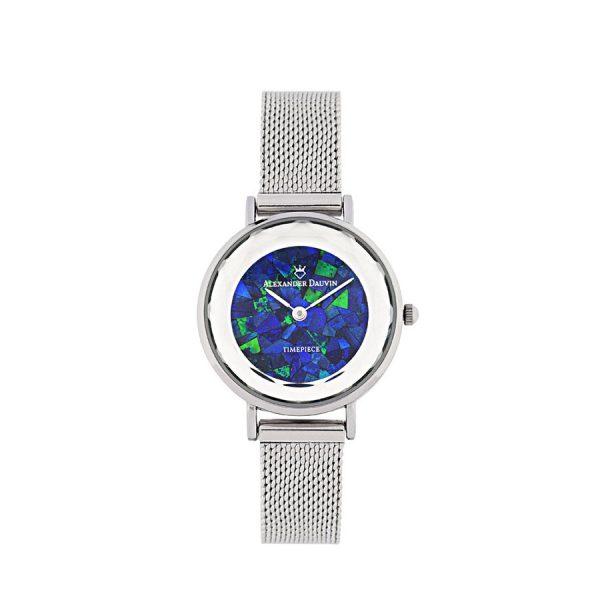 Geometry Treasure Cliff Blue Opal Watch - 28mm