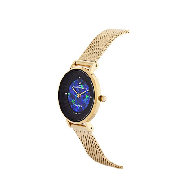 Dark Petite Treasure Cliff Blue Opal Watch - 28mm