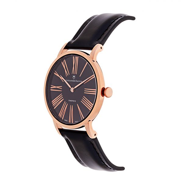 Roman Classic Pedy Onyx Rose Gold Watch - 38mm